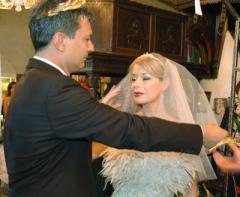Младоженците Георги Торнев и Мира Добрева