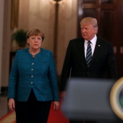Ангела Меркел и Доналд Тръмп | Качено на 17.03.2017 в 23:18 часа | Getty Images/Guliver Photos