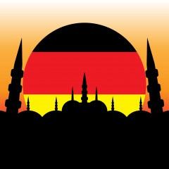 Германия, джамия, флаг | Качено на 20.04.2017 в 15:05 часа | Shutterstock